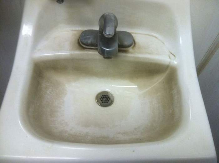 North of Baton Rouge, LA. This sink has seen better times.