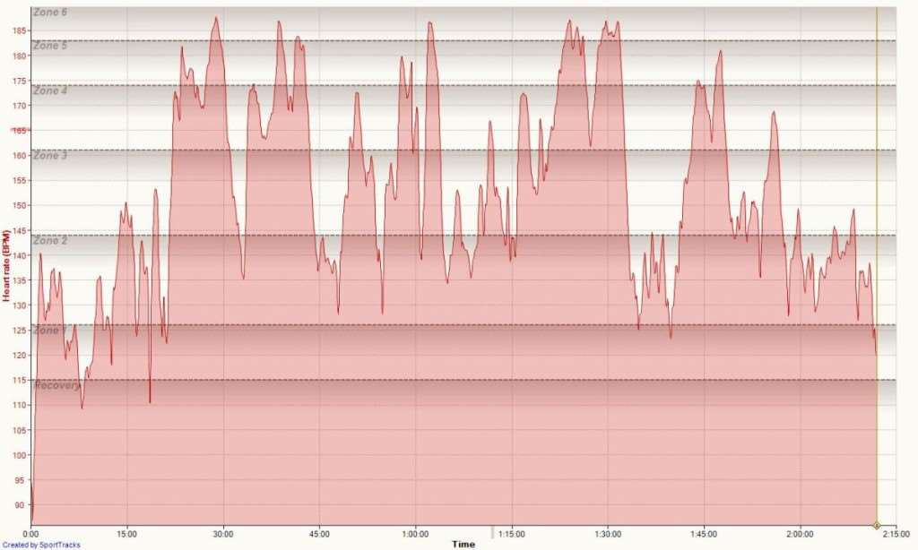 Don't usually publish this stuff, but this is JOM's heart rate data.