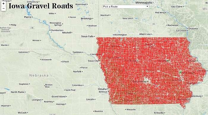 Cartography Gravel Road Map Resources Gravel Cyclist The - Road map of iowa