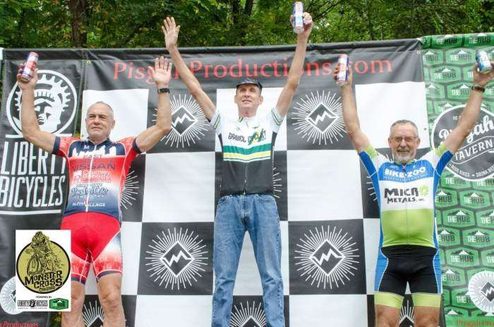 K-Dogg of Gravel Cyclist takes the win in 60+! Photo by Icon Media Asheville.
