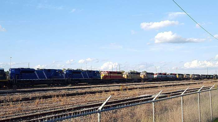 That's a lot of locomotive horsepower.