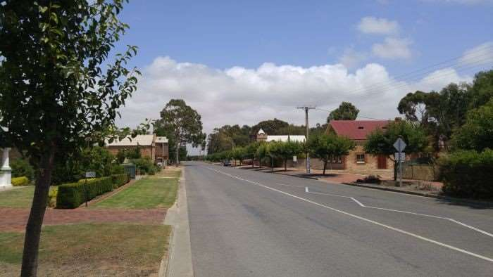 Bustling metropolis of Langhorne Creek.