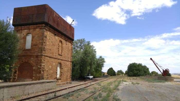 Once upon a time, steam locomotives refilled from this water tower.