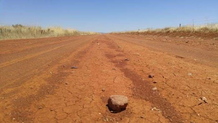 Red clay road of mid north South Australia.