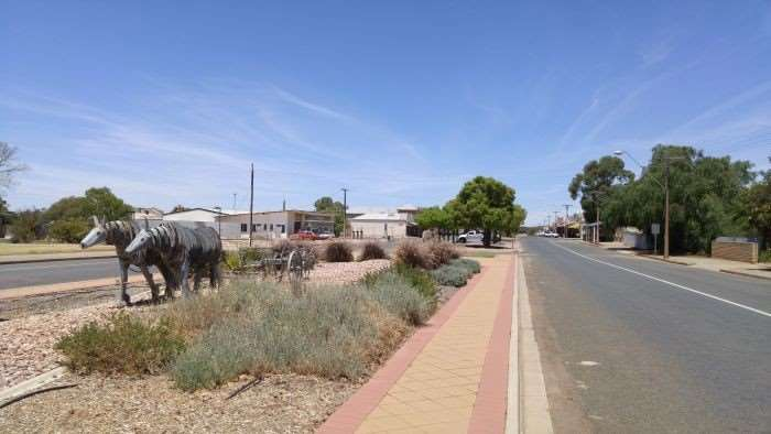 The main street through Orroroo.