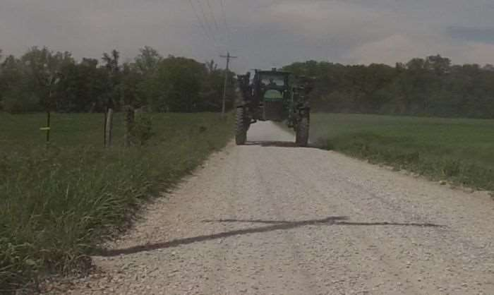 Being chased by farm equipment is normal in Missouri.