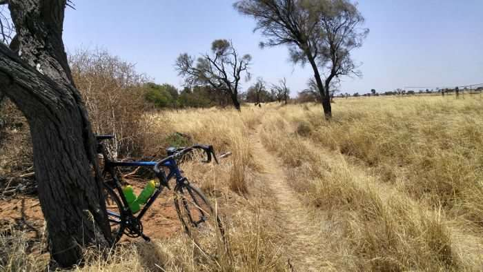 JOM takes his road bike off-roading near Milang, South Australia.
