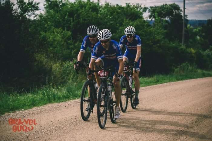 Nathan Wadsworth, Bob Cummings and Evan Fast. Photo by Gravel Guru.