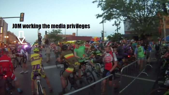 JOM at 2016 Dirty Kanza 200 before race start.