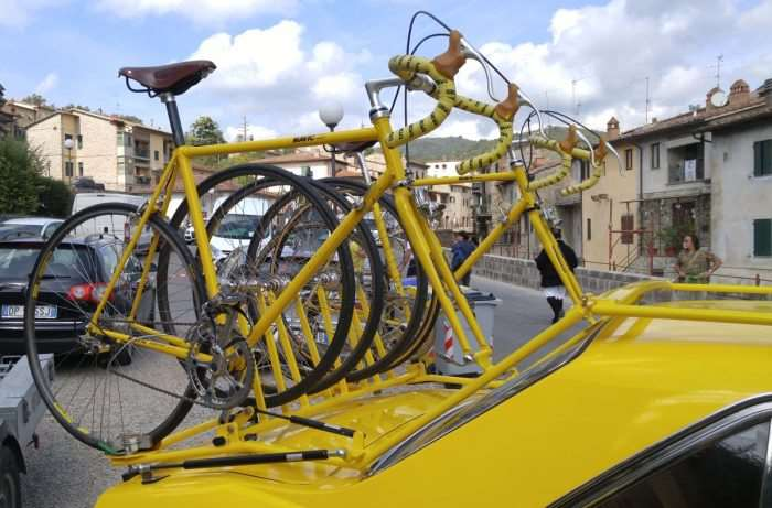 Neutral service bikes loaded with Mavic's SSC groupset.