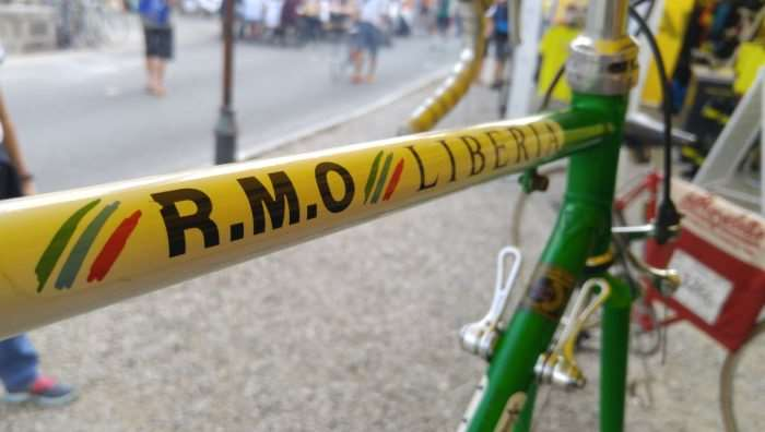 Thiery's bike was on display at the Mavic booth.