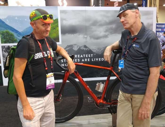 Hat Swap! L: JOM of Gravel Cyclist, R: Gary of J&B Importers.