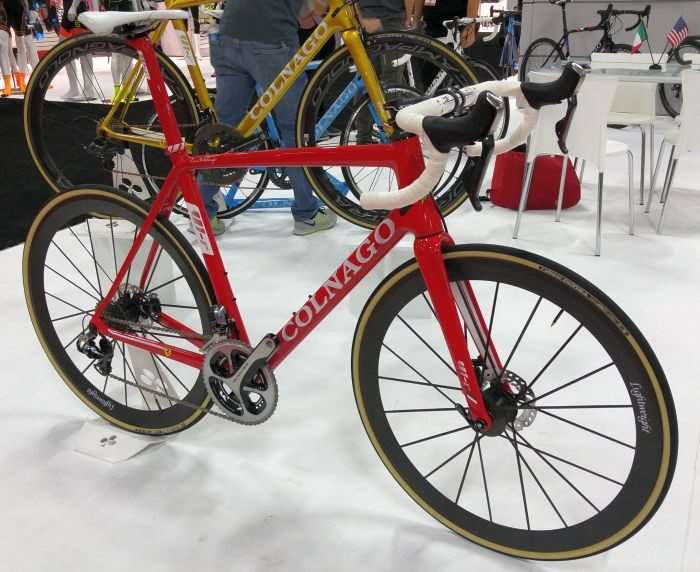Lightweight Disc Brake Wheels fitted to a very expensive Colnago.