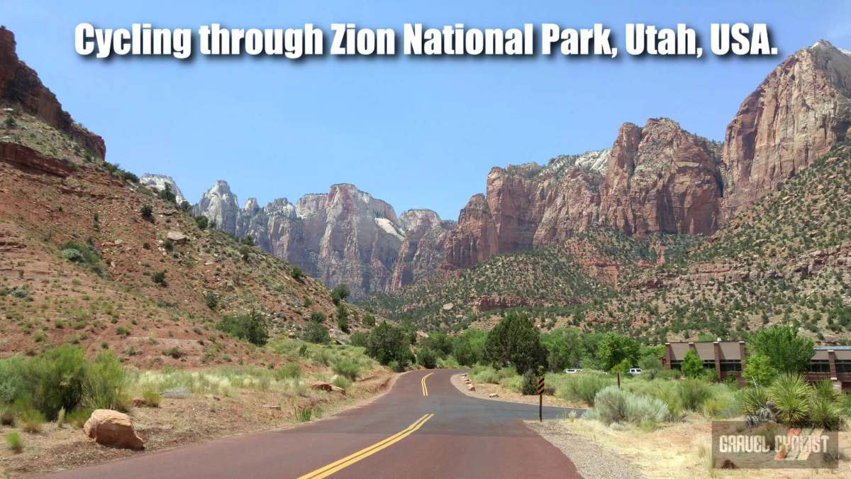 cycling through zion national park