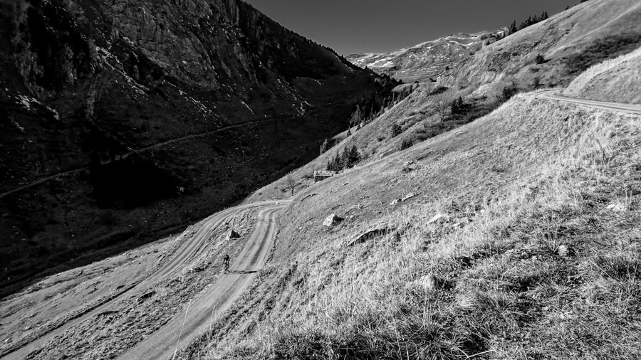 gravel cycling in the french alps