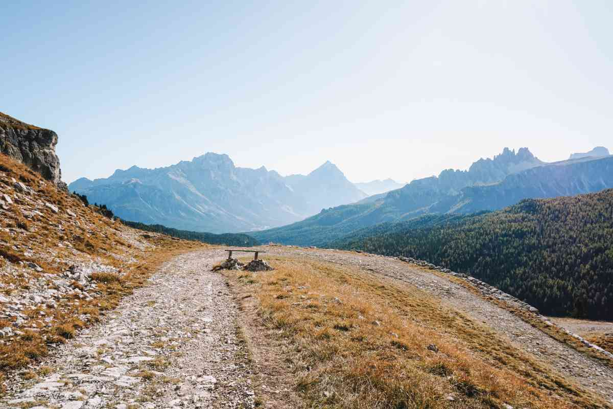 gravel cycling in the dolomites mountains