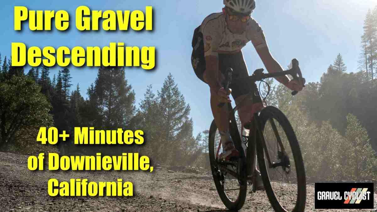 descending on gravel bikes in california