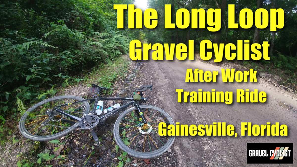 gravel cyclist after work training ride