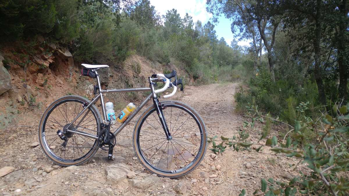 gravel cycling around girona spain