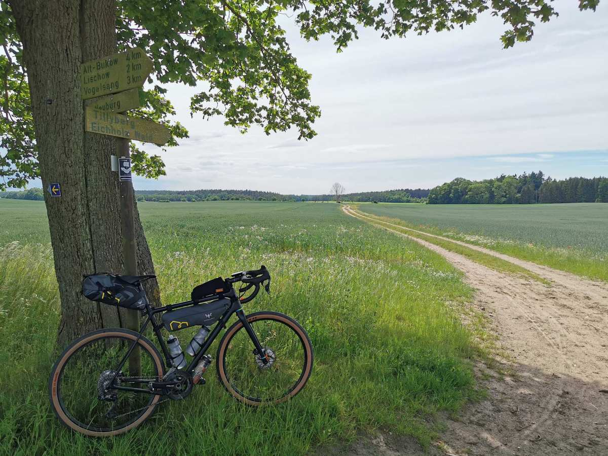 gravel cycling near the baltic sea