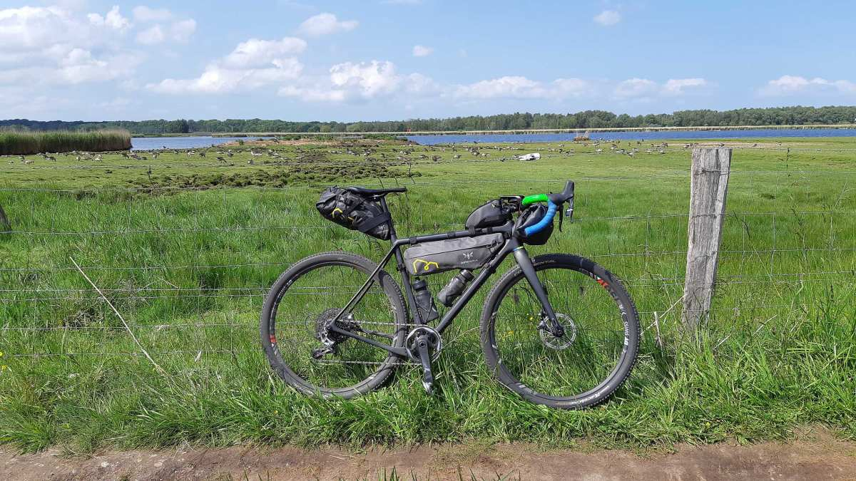 gravel cycling near the baltic sea