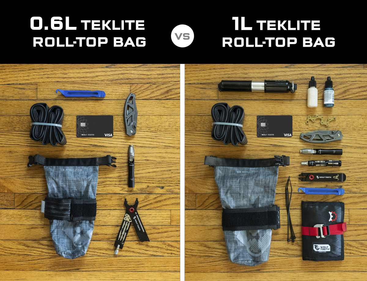 Wolf Tooth Components B-RAD TekLite Roll-Top Bag review