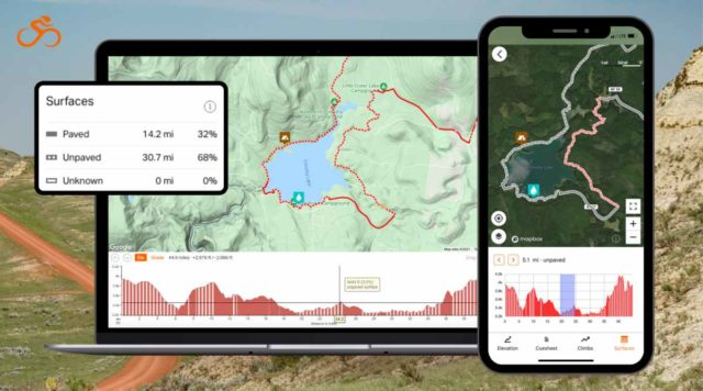 ride with gps surface types